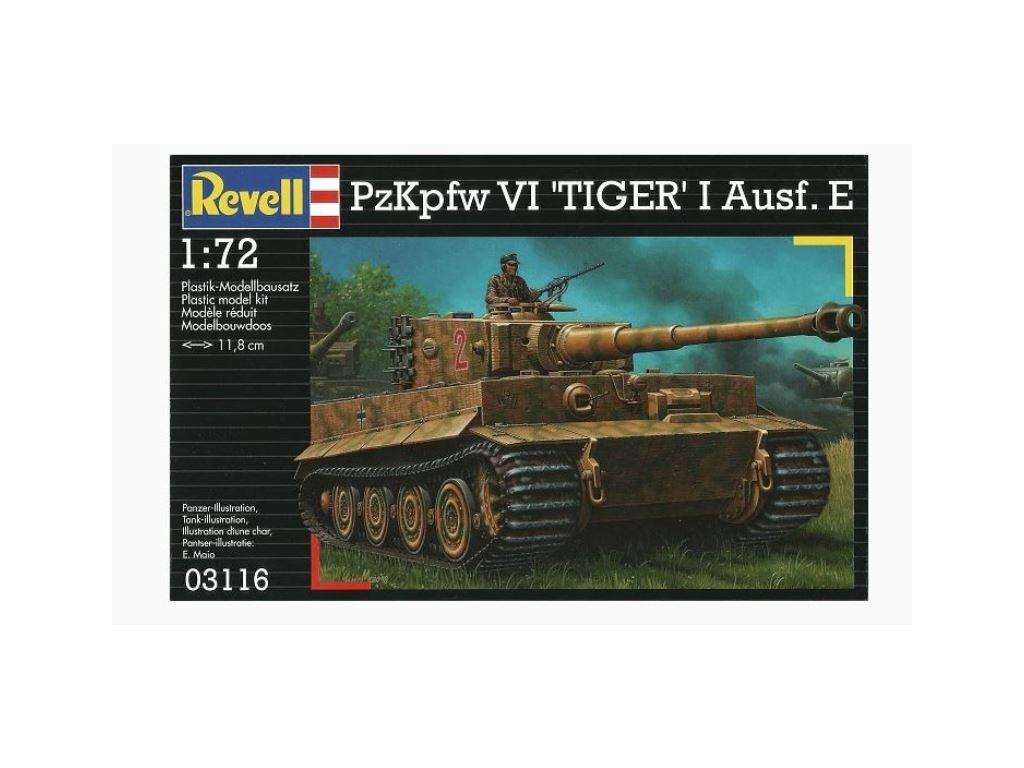 3107 plastovy model military revell 03116 pzkpfw iv tiger i ausf e 1 72