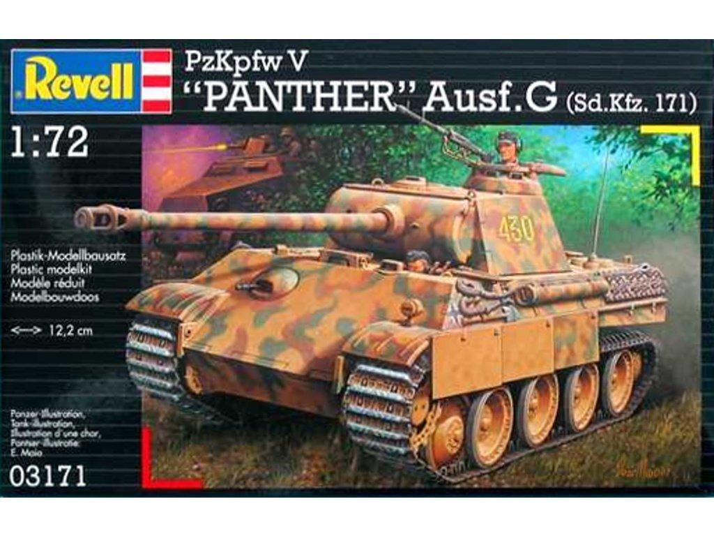 3110 plastovy model military revell 03171 kpfw v panther ausg g 1 72