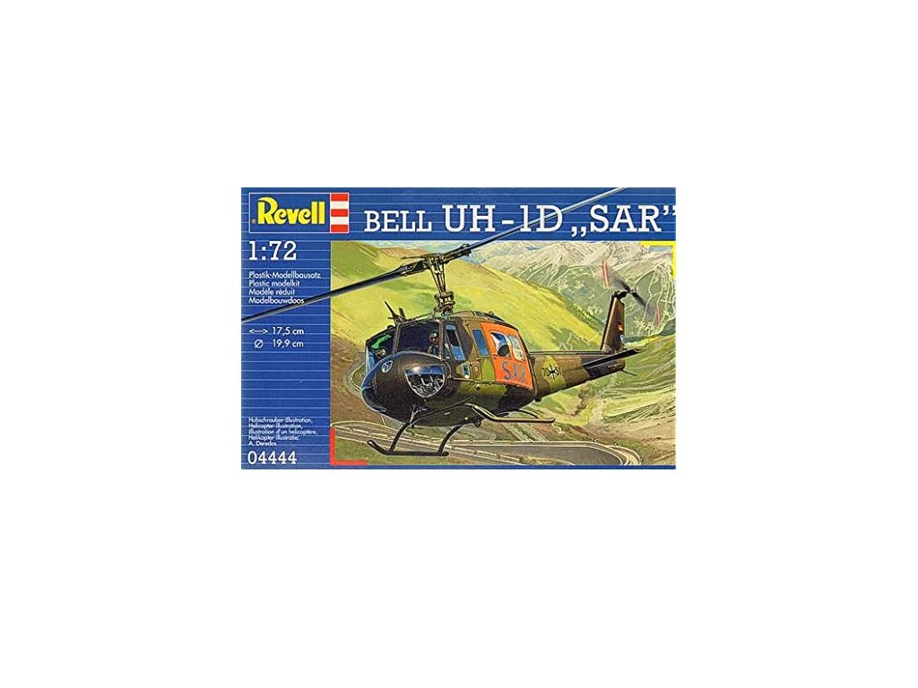 3128 plastovy model vrtulnik revell 04444 bell uh 1d sar 1 72