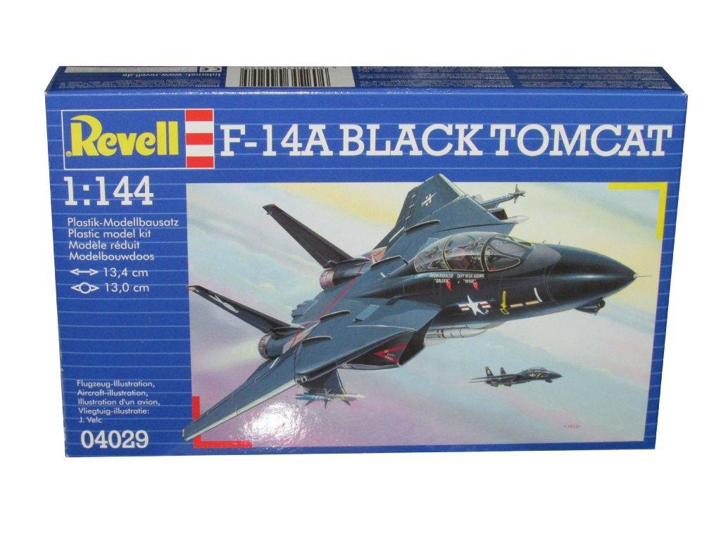 3131 plastovy model lietadlo revell 04029 f14a tomcat black bunny 1 144