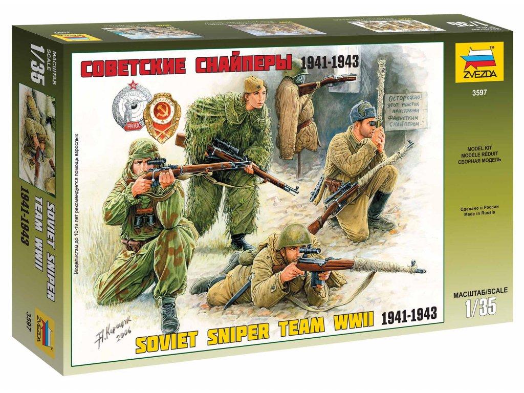 314 model kit figurky zvezda 3597 soviet sniper team 1 35