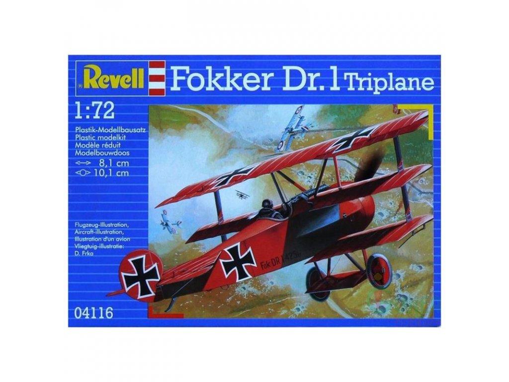 3140 plastovy model lietadlo revell 04116 fokker dr 1 triplane 1 72