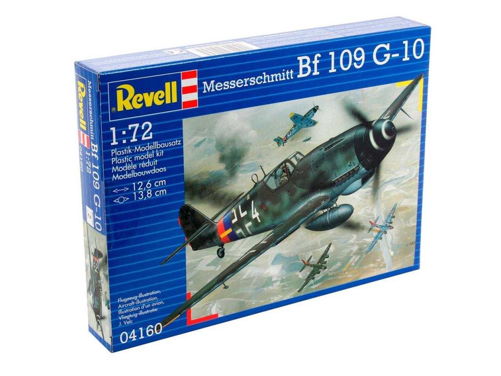 3143 plastovy model lietadlo revell 04160 messerschmitt bf 109 g 10 1 72