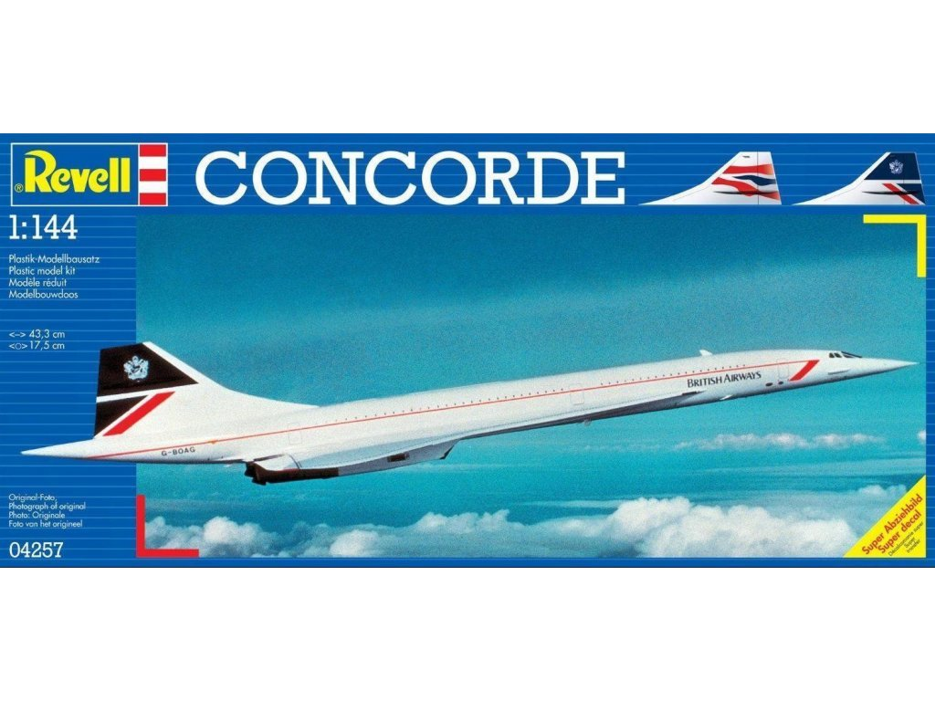 3146 plastovy model lietadlo revell 04257 concorde british airways 1 144