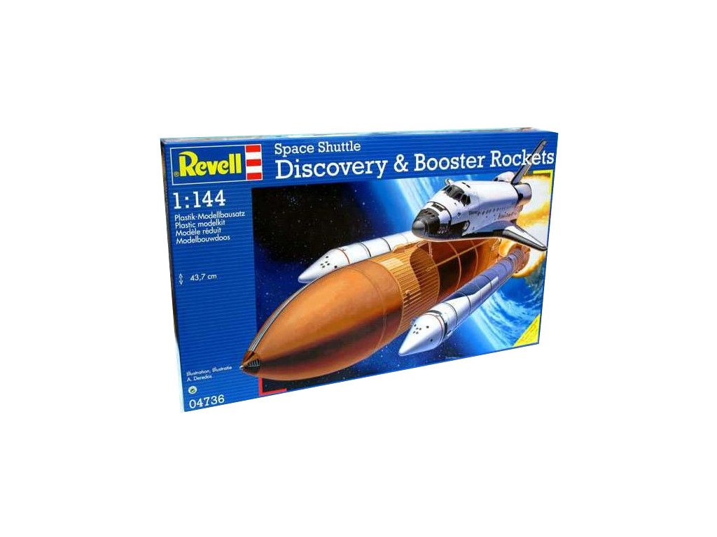 3152 model vesmir revell 04736 space shuttle discovery booster rockets 1 144