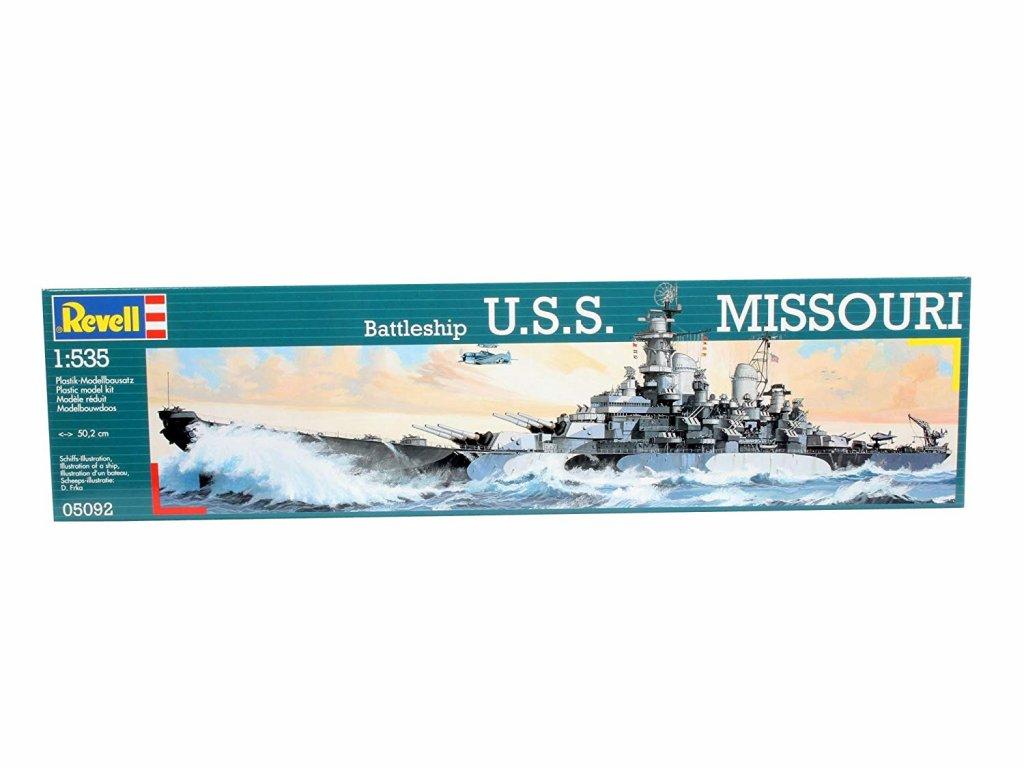3158 plastovy model lod revell 05092 battleship uss missouri 1 535