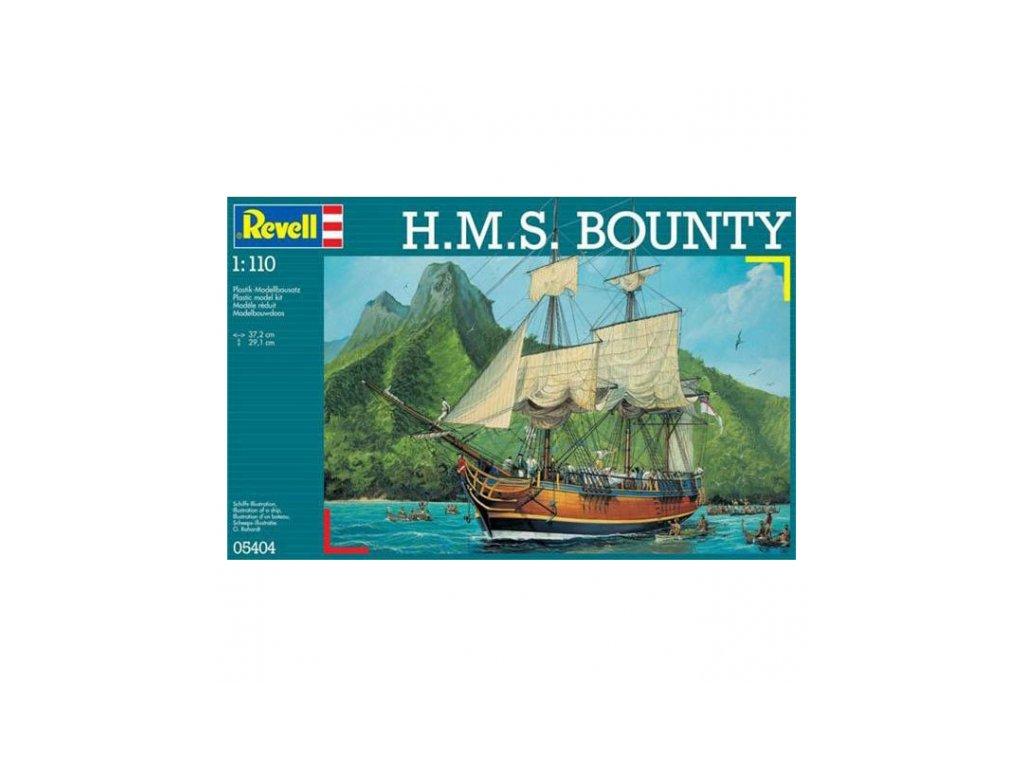 3164 plastovy model lod revell 05404 h m s bounty 1 110