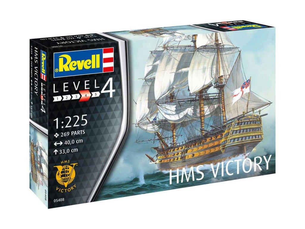 3167 plastovy model lod revell 05408 h m s victory 1 225