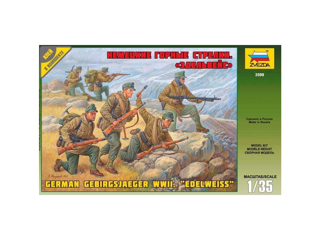 317 model kit figurky zvezda 3599 german gebirgsjager re release 1 35