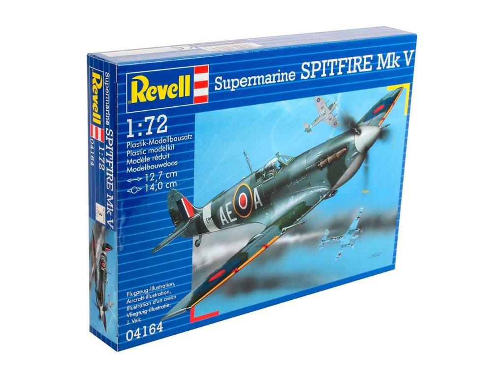 3176 plastovy model lietadlo revell 04164 spitfire mk v 1 72