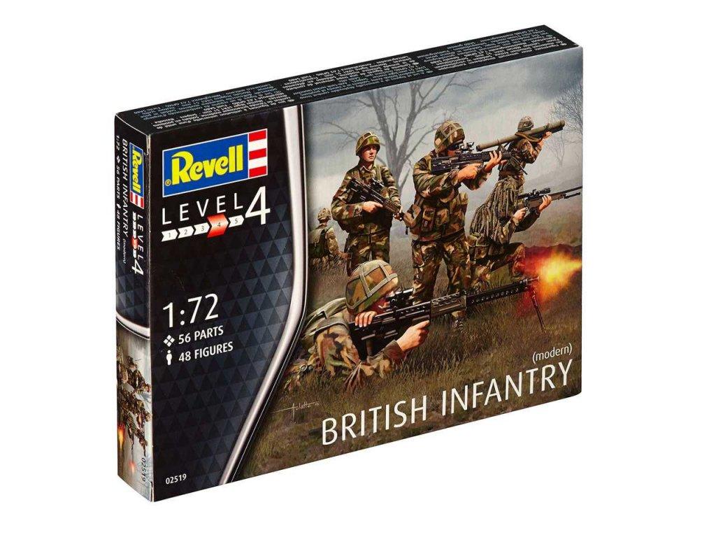 3197 plastovy model figurky revell 02519 british infantry modern 1 72