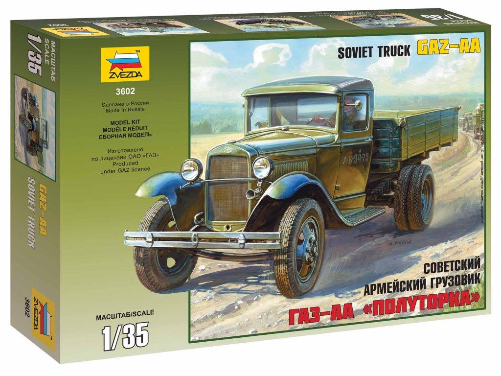 323 model kit military zvezda 3602 gaz aa 1 35
