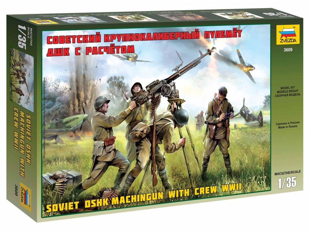 335 model kit figurky zvezda 3609 soviet dshk with crew wwii 1 35