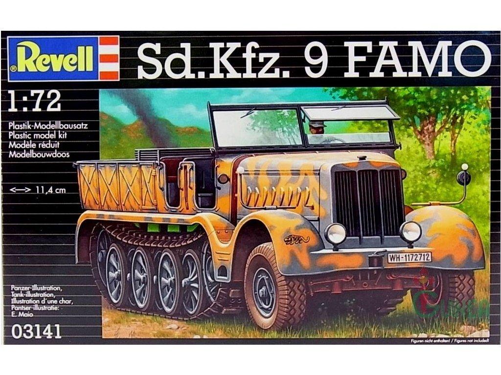 3350 plastovy model military revell 03141 sd kfz 9 famo 1 72