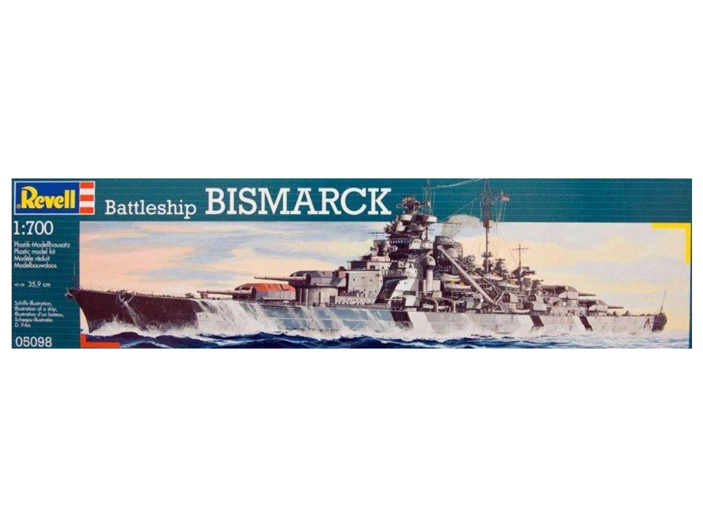 3356 plastovy model lod revell 05098 battleship bismarck 1 700