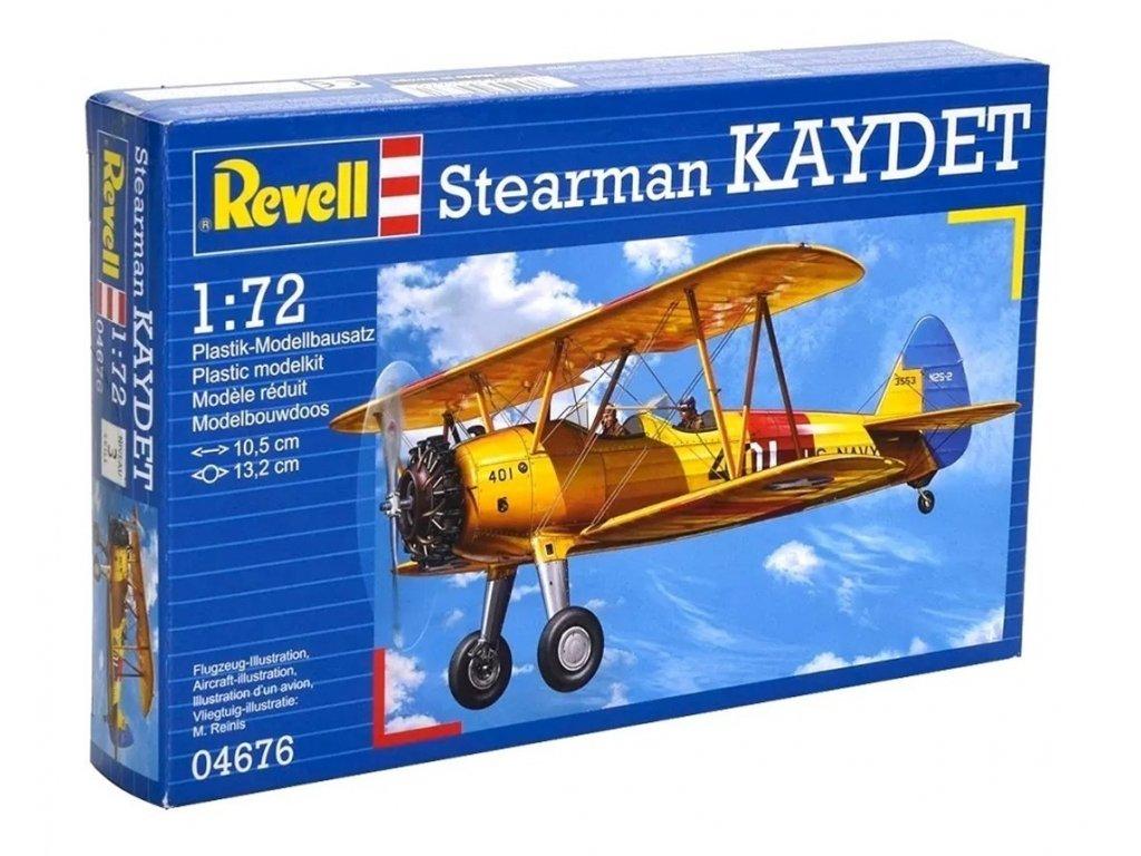 3374 plastovy model lietadlo revell 04676 stearman kaydet 1 72