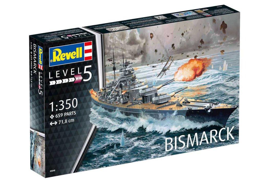 3380 plastovy model lod revell 05040 battleship bismarck 1 350