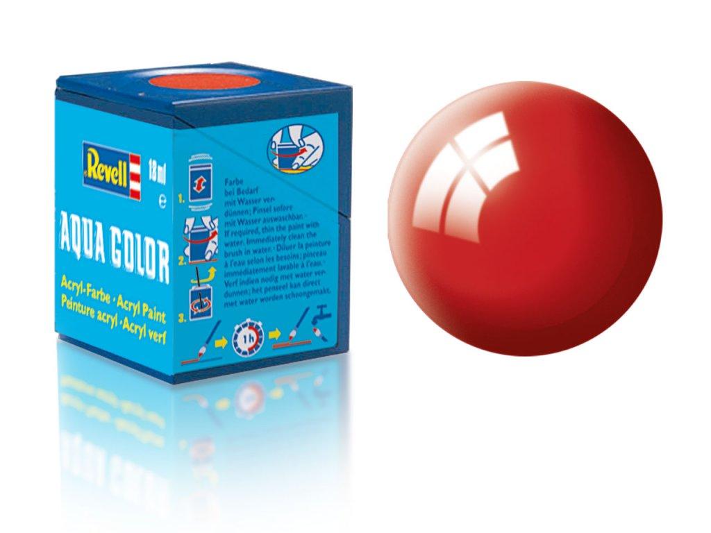 3383 farba revell akrylova 31 leskla ohnivo cervena fiery red gloss