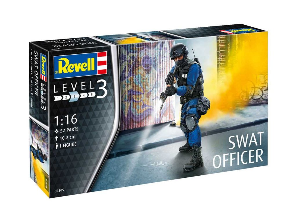 3386 plastovy model figurka revell 02805 swat officer 1 16