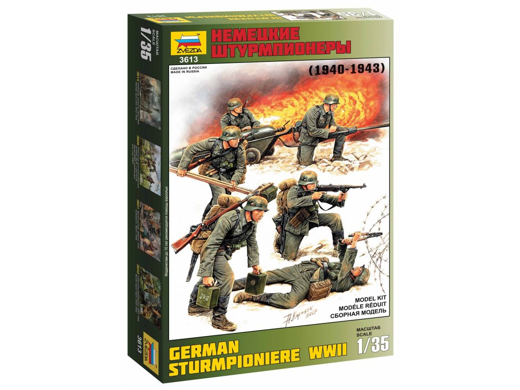 341 model kit figurky zvezda 3613 german sturmpioniere wwii re release 1 35