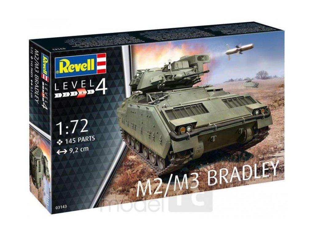 3419 plastovy model military revell 03143 m2 m3 bradley 1 72