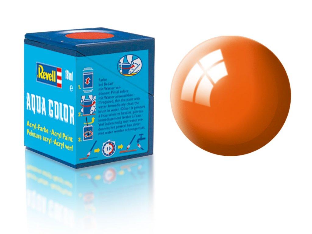 3437 farba revell akrylova 30 leskla oranzova orange gloss
