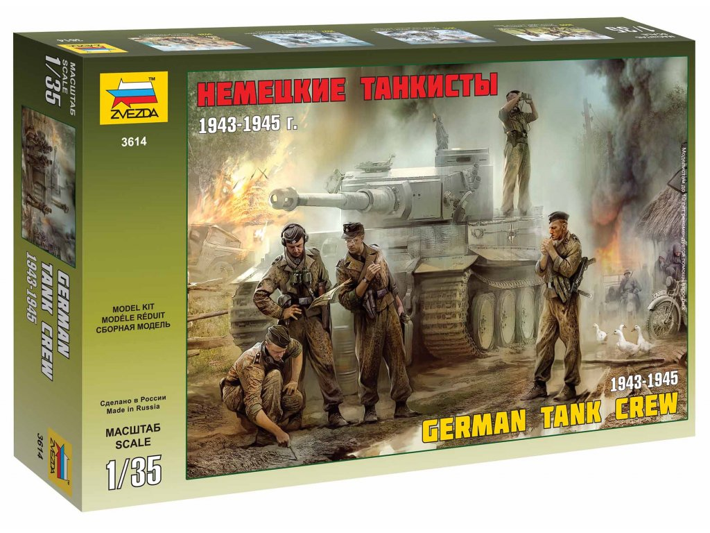 344 model kit figurky zvezda 3614 german tank crew 1943 1945 1 35