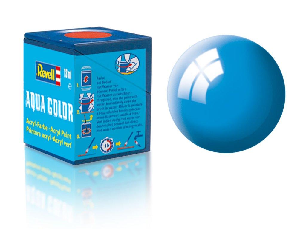 3476 farba revell akrylova 50 leskla svetlo modra light blue gloss