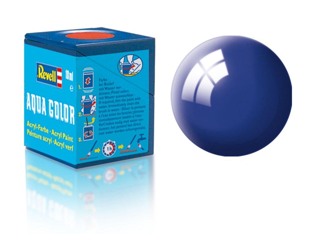 3479 farba revell akrylova 51 leskla ultramarinova modra ultramarine blue gloss
