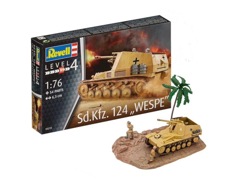 3485 plastovy model military revell 03215 sd kfz 124 wespe 1 76
