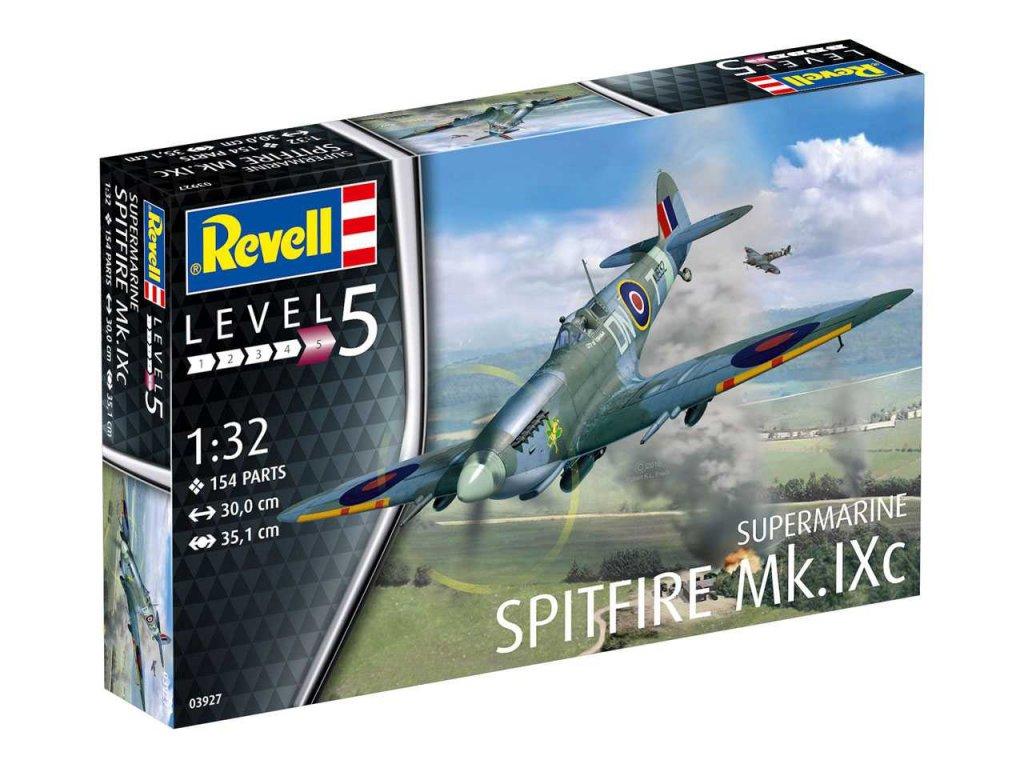 350 plastovy model lietadlo revell 03927 spitfire mk ixc 1 32