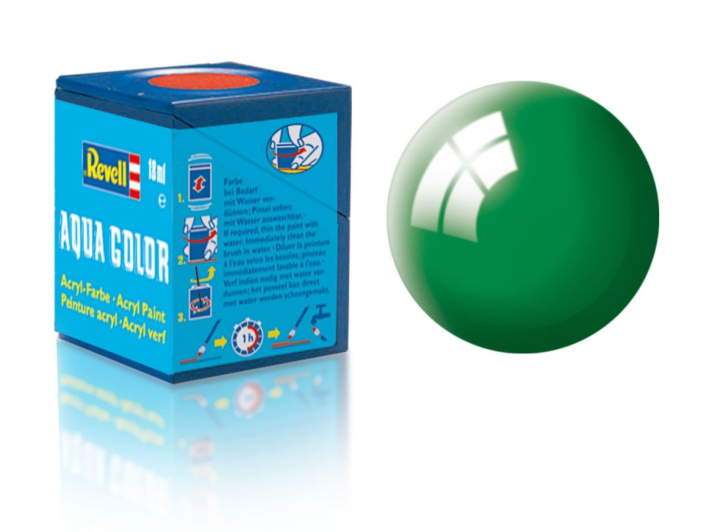 3500 farba revell akrylova 61 leskla smaragdovo zelena emerald green gloss