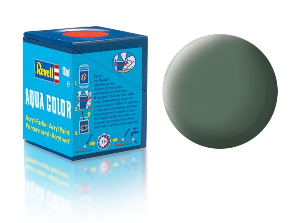 3512 farba revell akrylova 67 matna zelenavo seda greenish grey matt