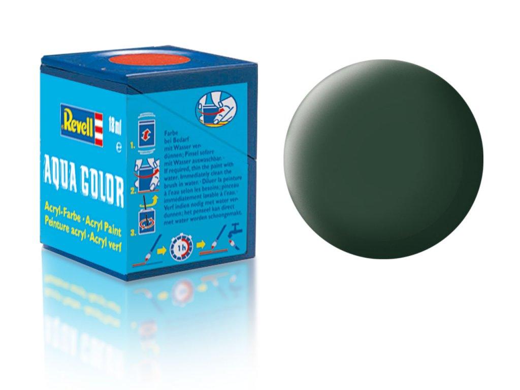 3515 farba revell akrylova 68 matna tmavo zelena dark green matt raf