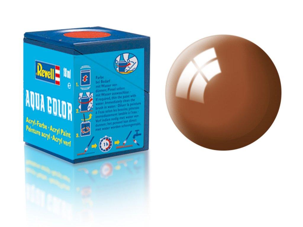 3542 farba revell akrylova 80 leskla bahenna hneda mud brown gloss