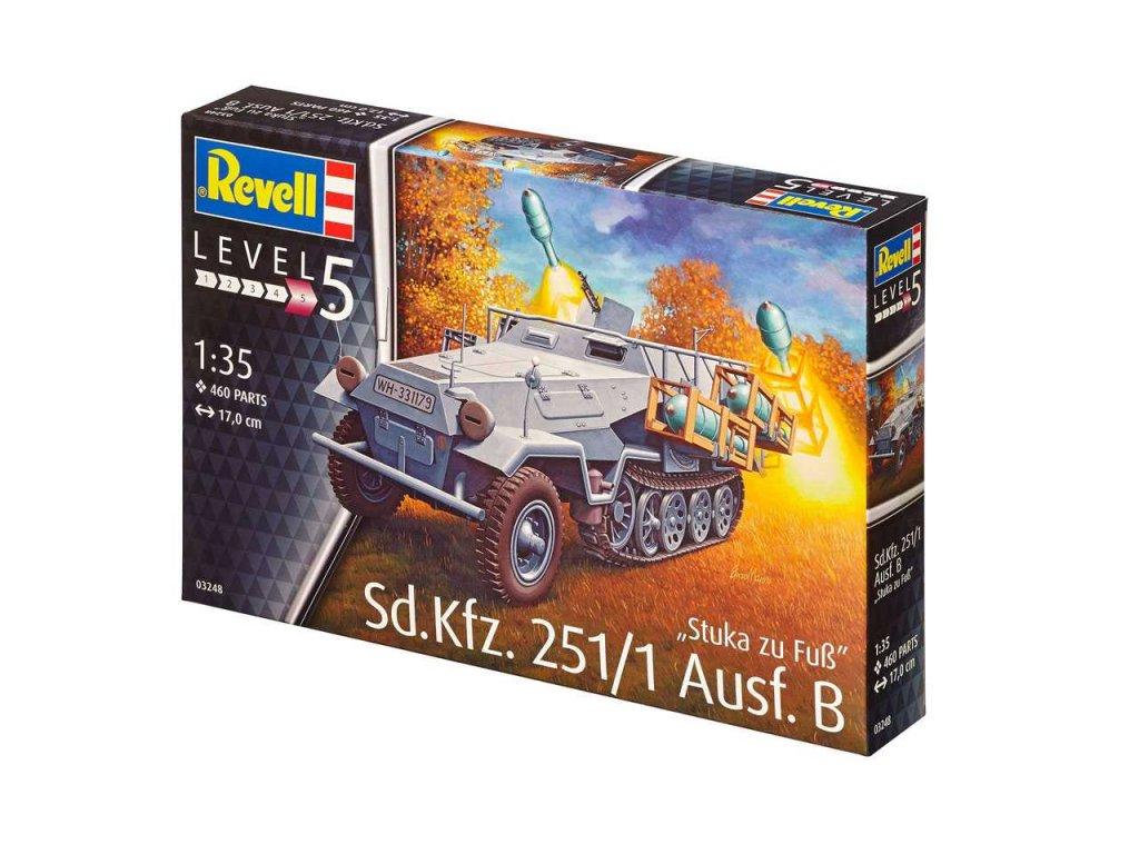 3551 plastovy model military revell 03248 sd kfz 251 1 ausf b stuka zu fu 1 35
