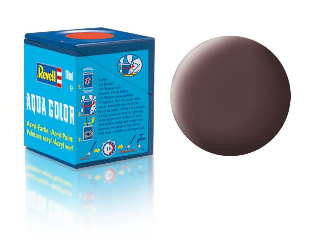 3554 farba revell akrylova 84 matna kozeno hneda leather brown matt