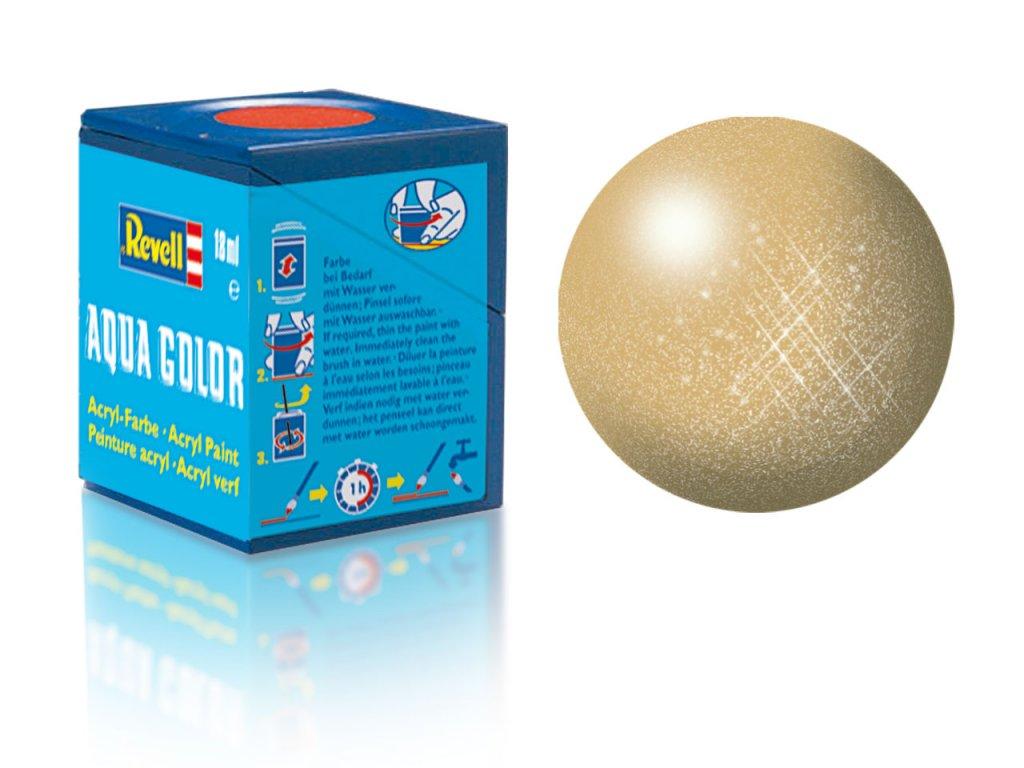 3578 farba revell akrylova 94 metalicka zlata gold metallic