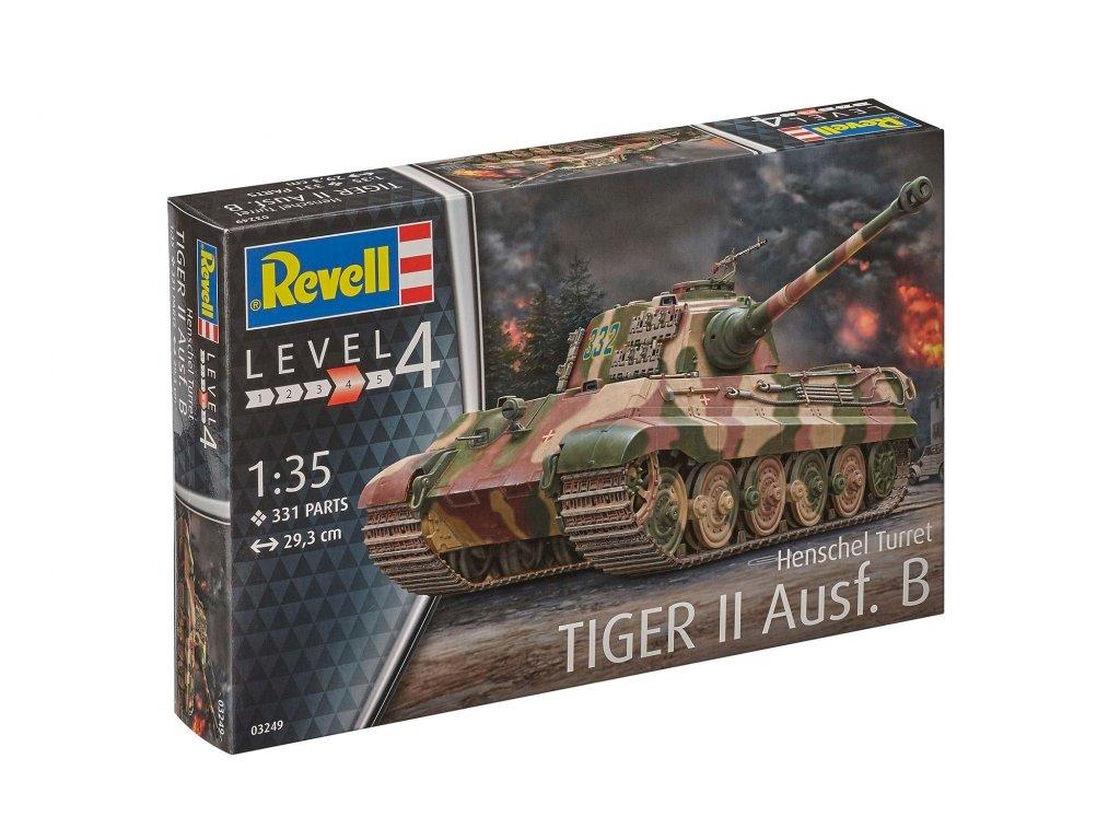 3584 plastovy model military revell 03249 tiger ii ausf b henschel turret 1 35