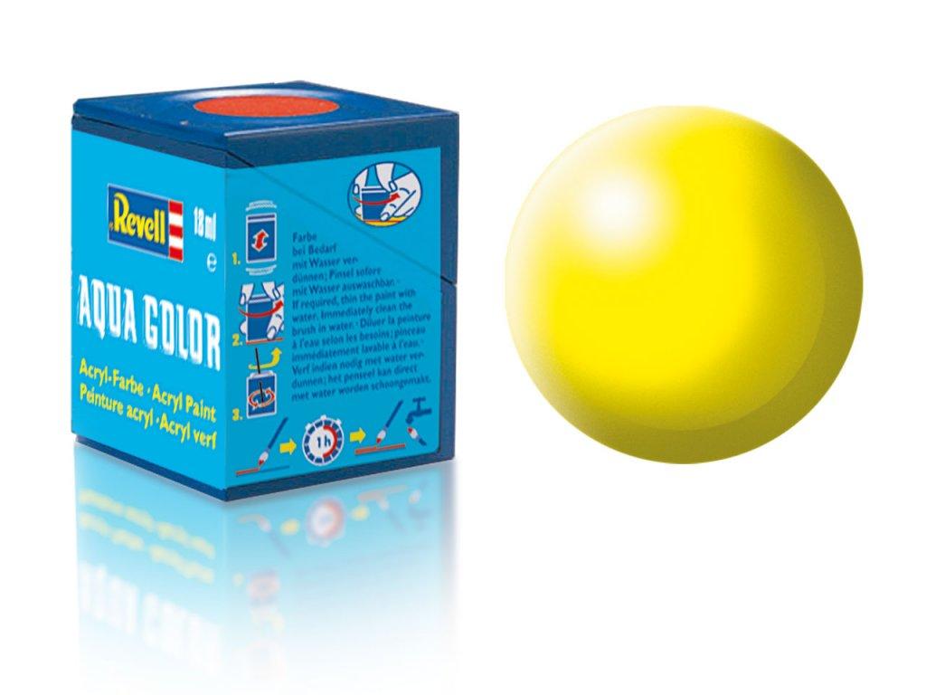 3596 farba revell akrylova 312 hodvabne matna svetlo zlta luminous yellow silk
