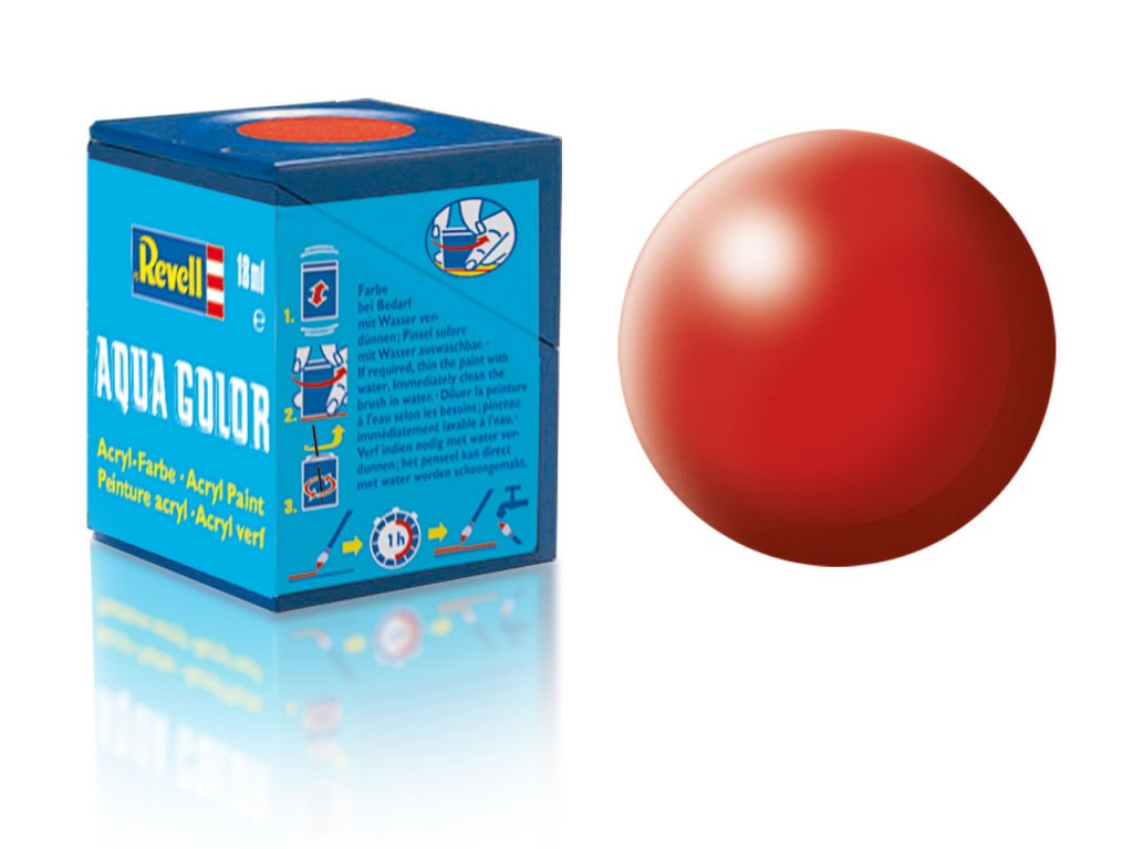 3602 farba revell akrylova 330 hodvabne matna ohnivo cervena fiery red silk