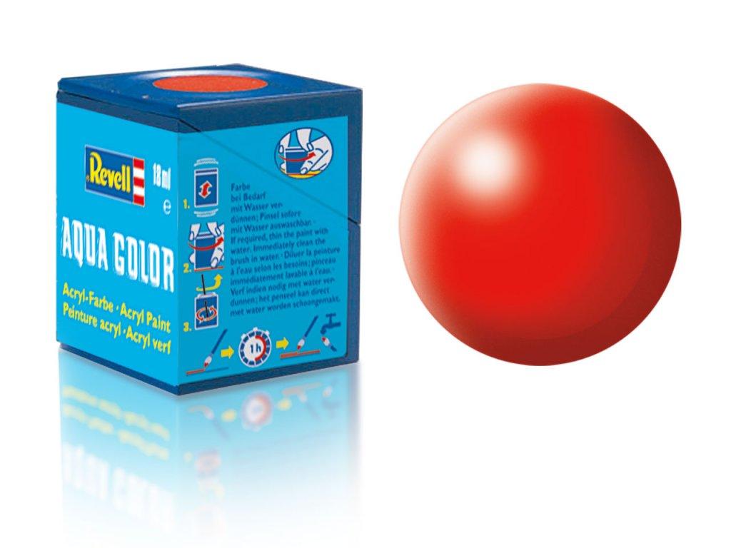 3608 farba revell akrylova 332 hodvabne matna svetlo cervena luminous red silk