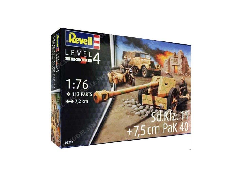 3617 plastovy model military revell 03252 sd kfz 11 pak 40 1 76