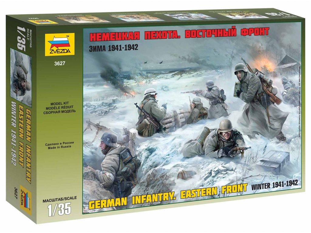 362 model kit figurky zvezda 3627 german infantry winter 1941 42 1 35