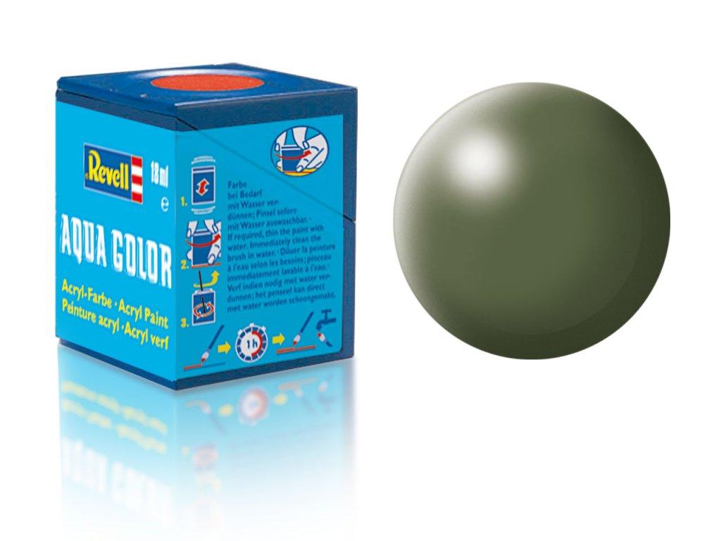 3620 farba revell akrylova 361 hodvabne matna olivovo zelena olive green silk