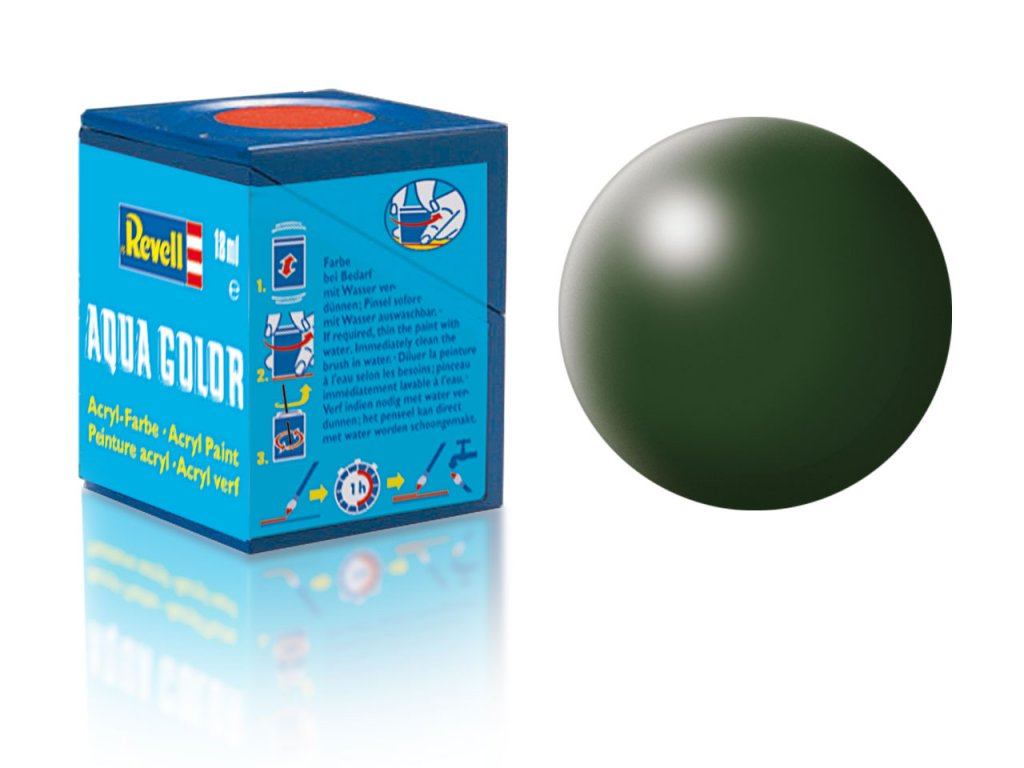 3626 farba revell akrylova 363 hodvabne matna tmavo zelena dark green silk