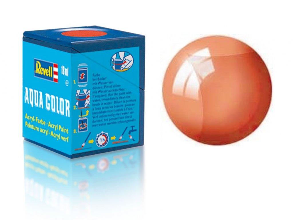 3647 farba revell akrylova 730 transparentna oranzova orange clear