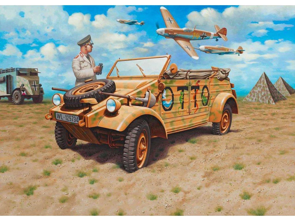 3650 plastovy model military revell 03253 german staff car type 82 kubelwagen 1 35