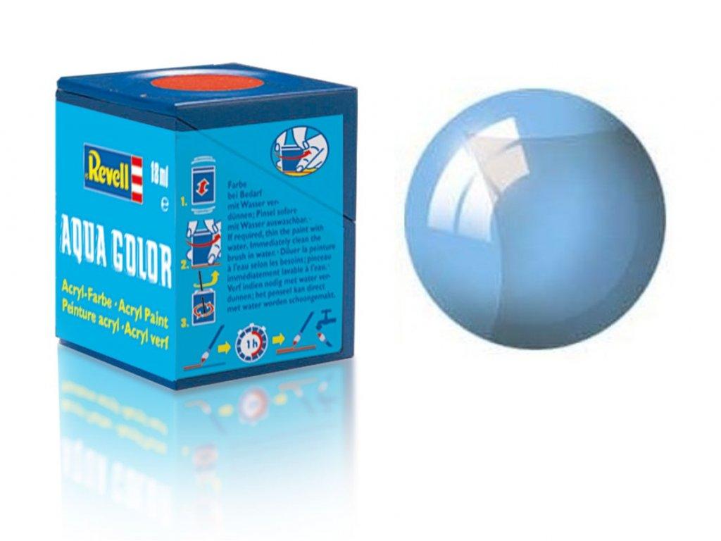 3656 farba revell akrylova 752 transparentna modra blue clear