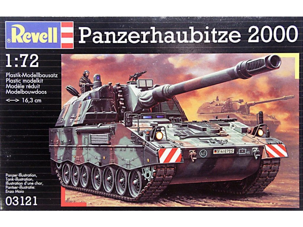 3665 plastovy model military revell 03121 panzerhaubitze pzh 2000 1 72